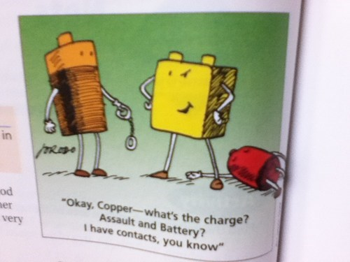 assault battery charge contacts copper police slang variations on a theme - 6616355072