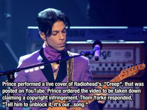creep,prince,radiohead,youtube