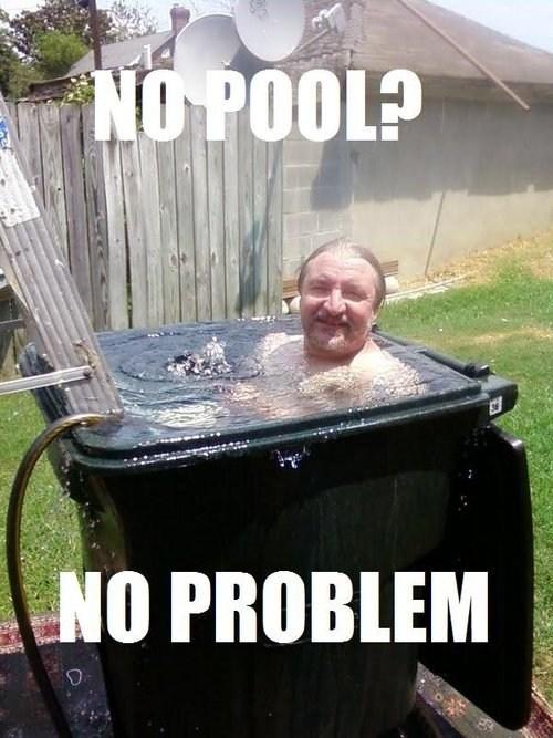 no pool no problem recycle bin waste bin - 6616476672