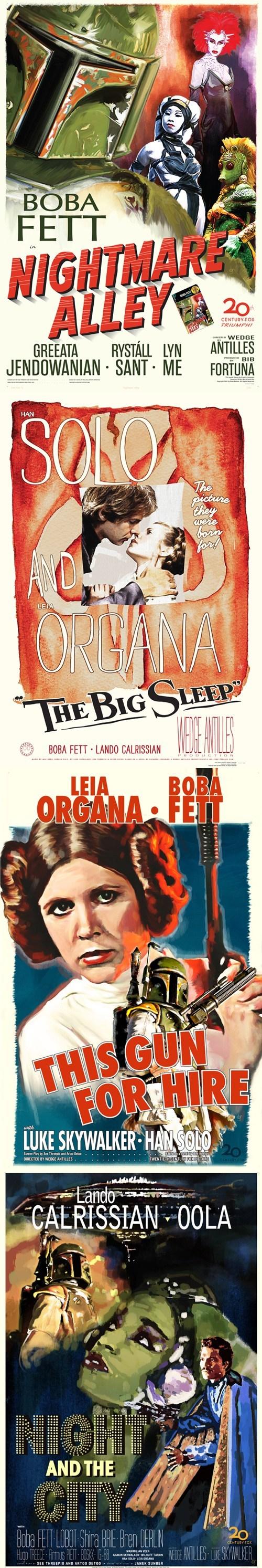 boba fett Han Solo movies posters Princess Leia scifi star wars - 6616498944