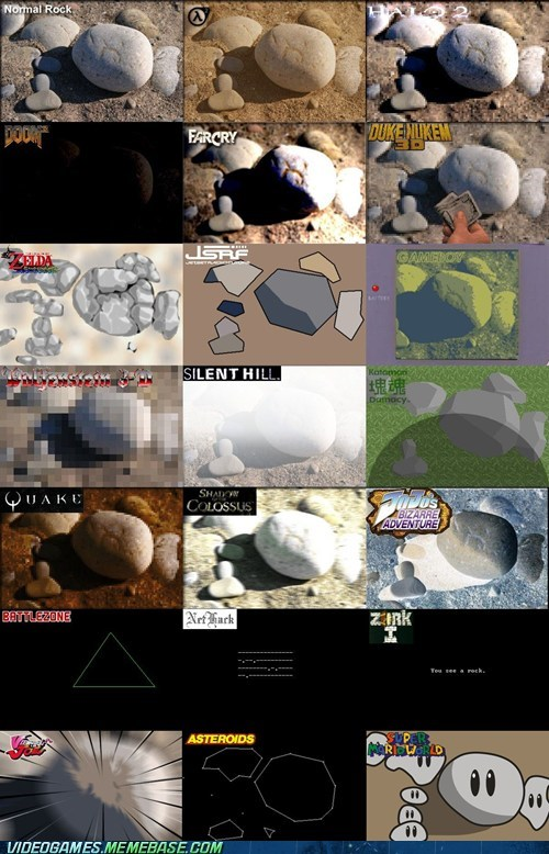 comparisons,rocks,video games