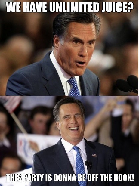 arrested development,juice,Mitt Romney,off the hook,Party,unlimited
