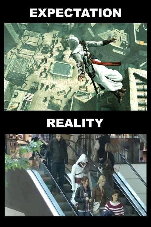 assassins creed,expectation vs reality,ezio,IRL