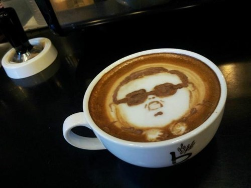art best of week coffee gangam style Hall of Fame latte psy - 6616579072