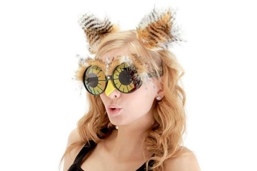 costume lazy Owl glasses feathers beak - 6616622080