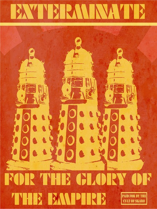 doctor who dalek scifi bbc poster - 6616631296