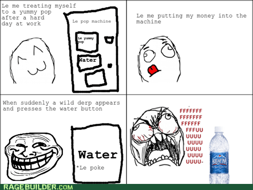 fu guy,troll face,water