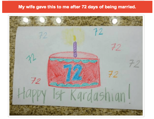 72 days,kardashian,married,unit of measurement