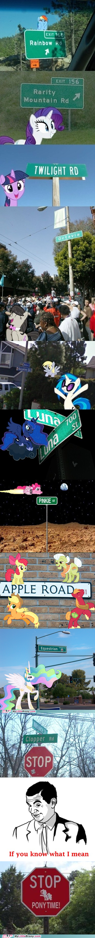 pony time stop street signs wat r u doing bronies stahp - 6616957952