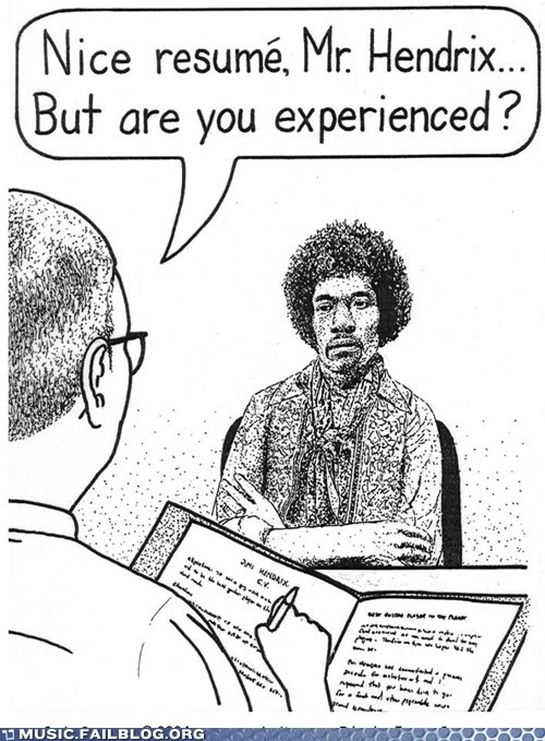 are you experienced,jimi hendrix,job interview
