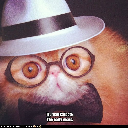capote,captions,Cats,costume,disguise,outfit,Truman Capote