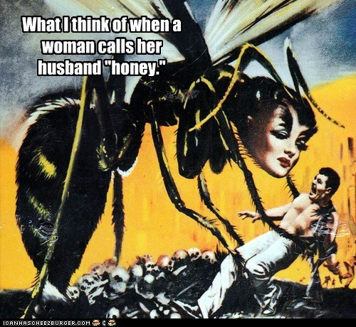 bee,wasp,woman,mutant,giant,scary,man,monster