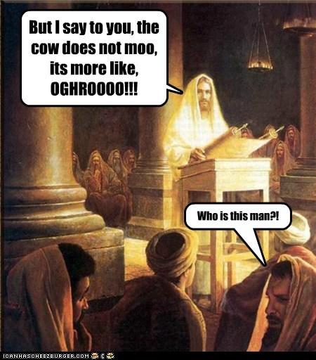 cow jesus church sermon wtf - 6617405440