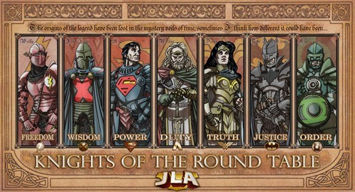 justice league superheroes Fan Art knights of the round table - 6617537792
