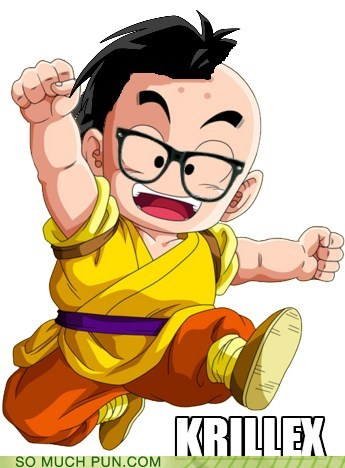 dragonball z hair hair style krillin shoop similar sounding skrillex