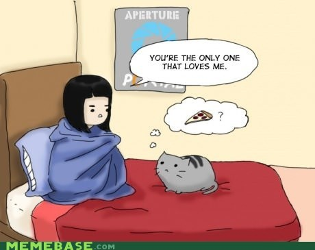 cat cartoons love food forever alone