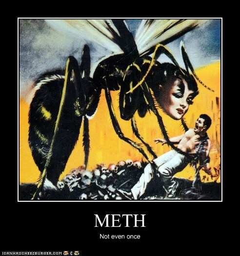 bee,drug,giant,meth,monster,woman