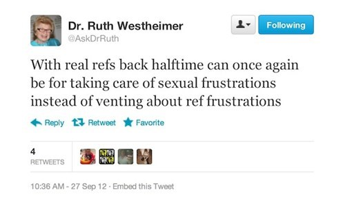 dr-ruth nfl deal replacement refs - 6618430464