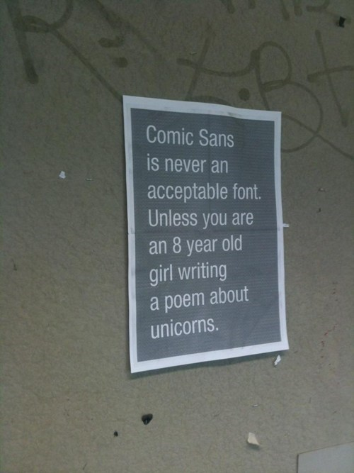 fonts,comic sans,monday thru friday,g rated