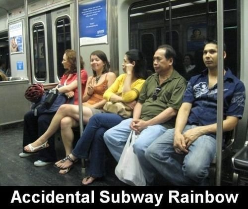 accidental rainbow,Subway