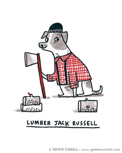 combination jack russell terrier literalism lumberjack mashup portmanteau