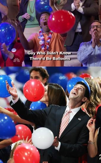 Balloons,exciting,happy,paul ryan,rnc,saturday night live