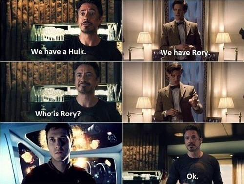 crossover doctor who hulk rory The Avengers