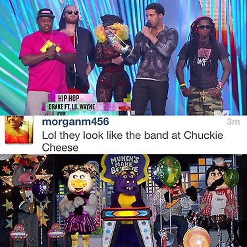 band chuckie cheese dinosaur Drake walk the dinosaur