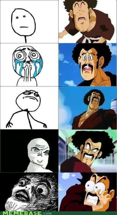 anime dragonball rage faces this guy who is this - 6619286272