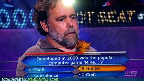 idiot,minecraft,who wants to be a millionaire