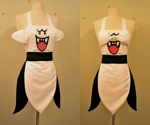 apron boo cooking ghost mario nintendo - 6619360256