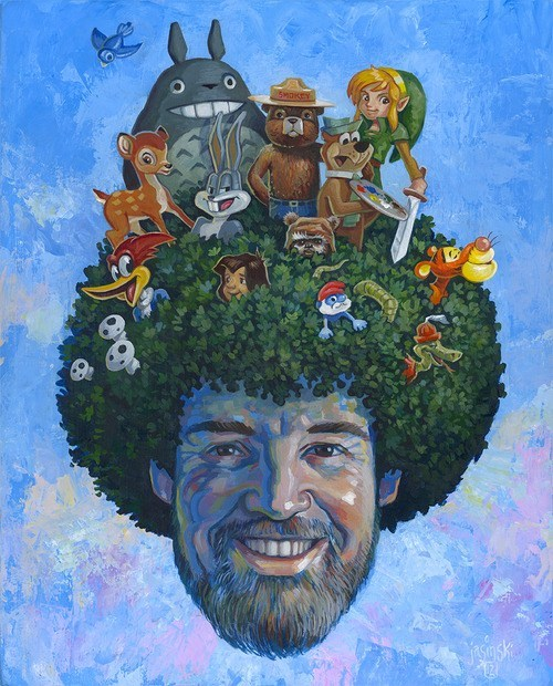 art,bob ross,celeb,painting