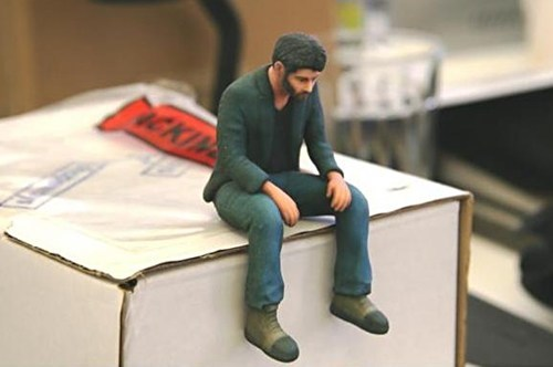 3d printed,figurine,keanu reeves,sad keanu