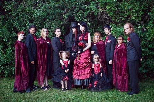 black danger goth red sunshine velvet wedding party - 6619517184
