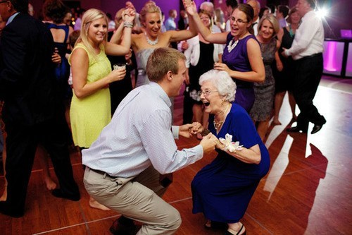 boogie dance get down grandma reception