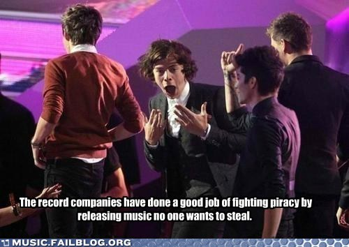 one direction,piracy,record companies