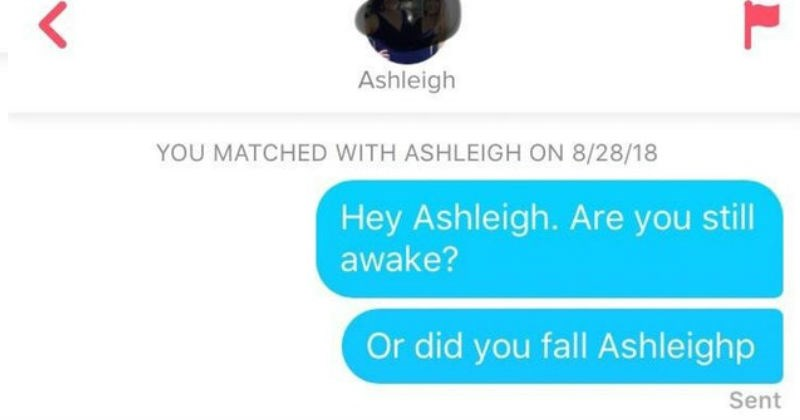 tinder chat pun about the name ashleigh
