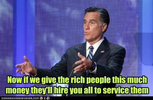 Mitt Romney money hiring job creators service - 6620228352
