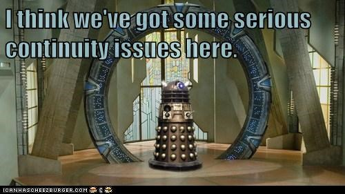 dalek continuity doctor who issues Stargate - 6620230656