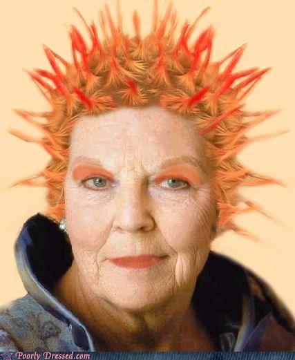 grandma,punk hairdo,sid vicious