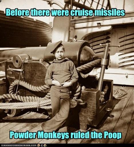 powder monkey cannon boat ship war poop deck - 6620335360