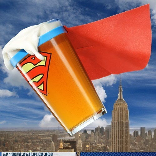 beer cape pint glass superman Think geek