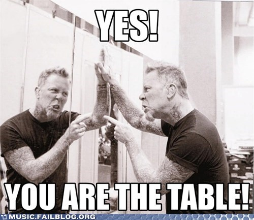 James Hetfield,metallica,table