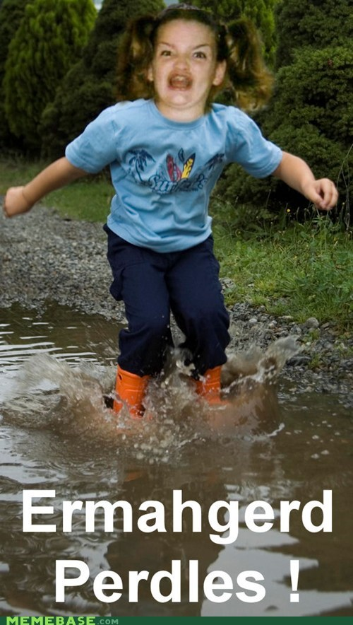 Ermahgerd,playing,puddles,splash