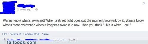Awkward,awkward death,streetlights