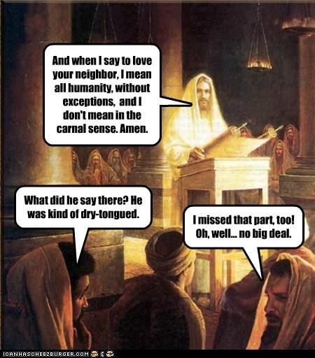 jesus pulpit sermon love thy neighbor not listening categoryimage - 6621227264