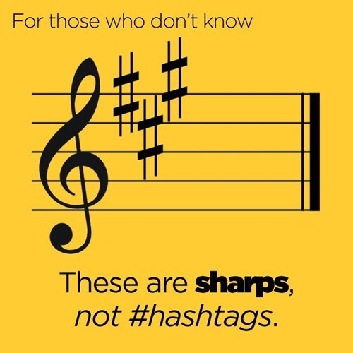 accidentals hashtags music notation sharps - 6621310720