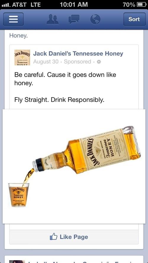 be careful flying straight honey whiskey jack daniels - 6621371136