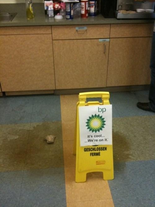 bp caution wet floor coffee coffee spill oil spill - 6621378816