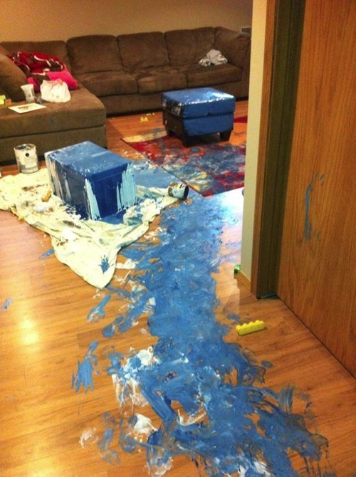 messy kids paint - 6621380352